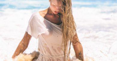 Elena Krauze Nude Under White Shirt